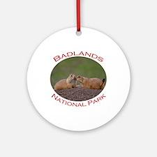 Badlands National Park...Prairie Dog Kiss Ornament