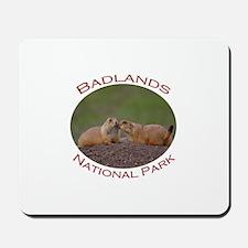 Badlands National Park...Prairie Dog Kiss Mousepad