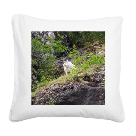 Mountain Goat Square Canvas Pillow By Wildamericanphotography