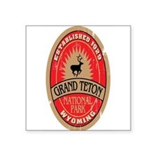Grand Teton National Park Oval Sticker