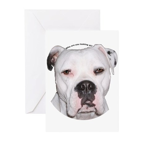 American Bulldog copy.png Greeting Cards (Pk of 20