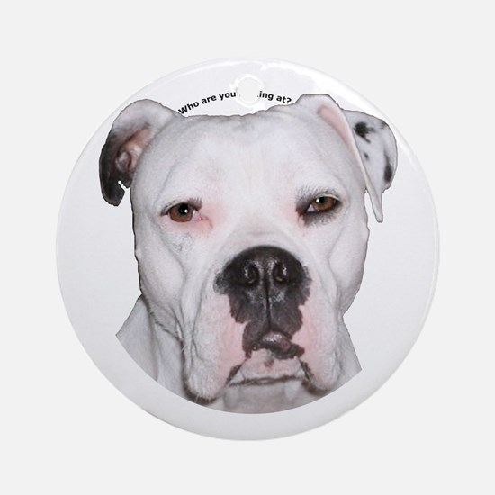 American Bulldog copy.png Ornament (Round)