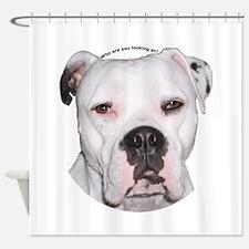 American Bulldog copy.png Shower Curtain