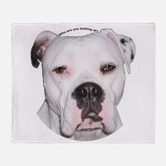 American Bulldog copy.png Throw Blanket