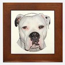American Bulldog copy.png Framed Tile