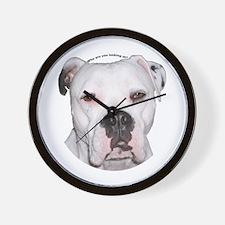 American Bulldog copy.png Wall Clock