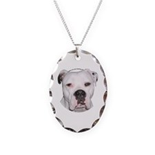 American Bulldog copy.png Necklace Oval Charm