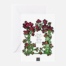 """""""Plant Only Beauty..."""" Greeting Cards (Package of"""
