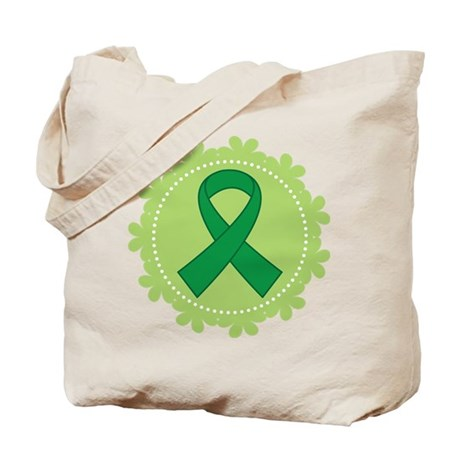Green Ribbon Scallop Tote Bag