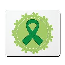 Green Ribbon Scallop Mousepad