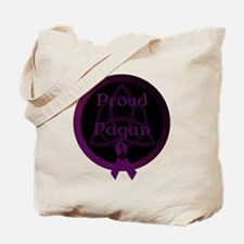 Proud Pagan with triqetra Tote Bag