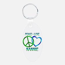 Peace Love Nannie Keychains