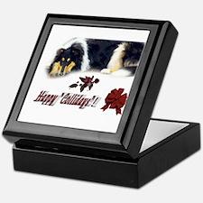 Rough Collie Christmas Keepsake Box