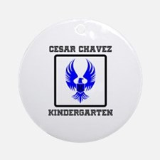 Cesar Chavez - Kindergarten Ornament (Round)