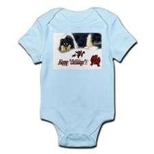 Rough Collie Christmas Infant Creeper