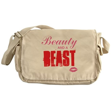 Beauty and a beast Messenger Bag