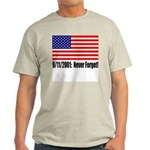 T-Shirt - 9/11/2001: Never Forget - Ash Grey