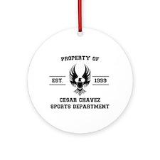 Cesar Chavez - Sports Department Ornament (Round)