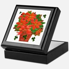 Poinsettia Basket Keepsake Box