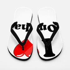 I Heart Love Omaha.png Flip Flops