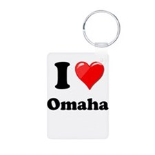 I Heart Love Omaha.png Keychains