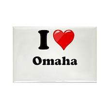 I Heart Love Omaha.png Rectangle Magnet