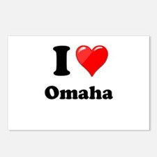 I Heart Love Omaha.png Postcards (Package of 8)