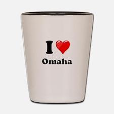 I Heart Love Omaha.png Shot Glass