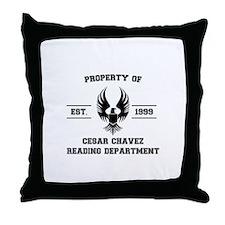 Cesar Chavez Reading Department Throw Pillow