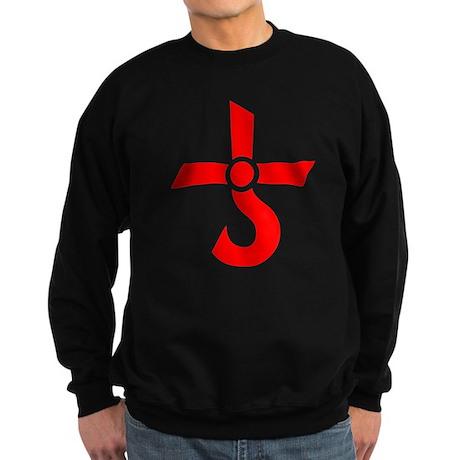 CROSS OF KRONOS (MARS CROSS) Red Sweatshirt (dark)