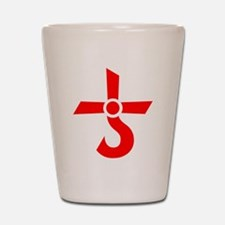 CROSS OF KRONOS (MARS CROSS) Red Shot Glass