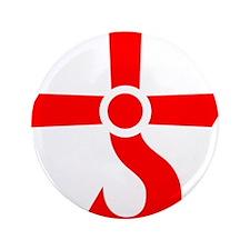 "CROSS OF KRONOS (MARS CROSS) Red 3.5"" Button (100"
