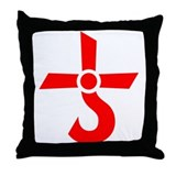 Blue oyster cult Throw Pillows