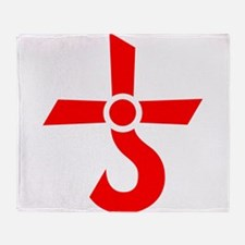 CROSS OF KRONOS (MARS CROSS) Red Throw Blanket