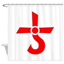 CROSS OF KRONOS (MARS CROSS) Red Shower Curtain