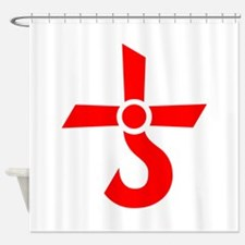 CROSS OF KRONOS (MARS CROSS) Red Shower Curtain