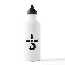 CROSS OF KRONOS (MARS CROSS) Black Water Bottle