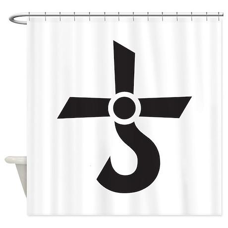 CROSS OF KRONOS (MARS CROSS) Black Shower Curtain