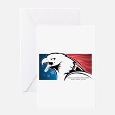 Cesar Chavez - American Eagle Logo Greeting Card
