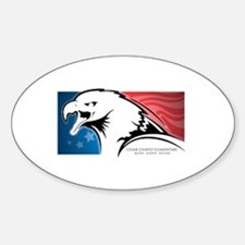 Cesar Chavez - American Eagle Logo Sticker (Oval)