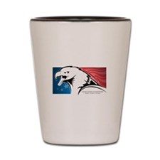 Cesar Chavez - American Eagle Logo Shot Glass