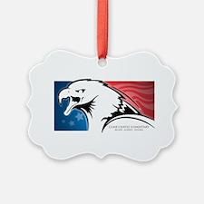 Cesar Chavez - American Eagle Logo Ornament