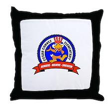 Cesar Chavez - Uncle Sam Logo Throw Pillow