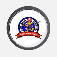 Cesar Chavez - Uncle Sam Logo Wall Clock