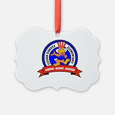 Cesar Chavez - Uncle Sam Logo Ornament