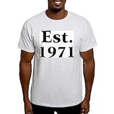 Est. 1971 Ash Grey T-Shirt
