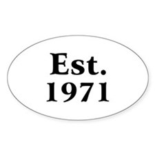 Est. 1971 Oval Decal