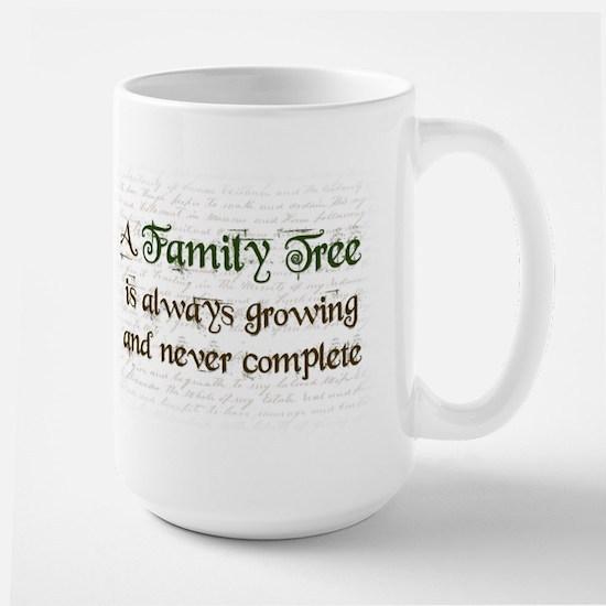 a Family Tree is... Large Mug