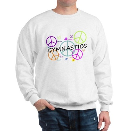 Colored Peace Signs Gymnastics Sweatshirt