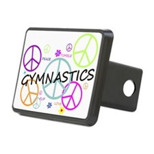 Colored Peace Signs Gymnastics Hitch Cover